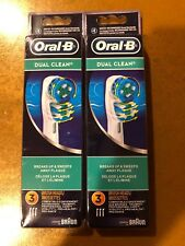 6 BRAUN ORAL B DUAL CLEAN TOOTHBRUSH REPLACEMENT BRUSH HEADS REFILL EB25-3