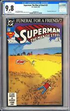 Superman The Man of Steel #21 CGC 9.8 WP 3839401012 Funeral for a Friend part 7