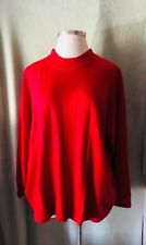 "Women's Roaman's Plus Size 100% Acrylic Red ""Ruby"" Sweater New $54.99 2X 3X Soft"