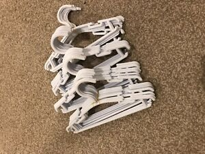 40x Baby, Infant or Toddler Coat Hangers White-Brand New Never Used **No Res!**