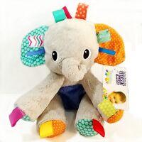 Bright Starts Taggies Baby Kids Children Plush Big Elephant Cuddle Rattle Toy 0+