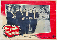 FOTOBUSTA 7, UN GENIO IN FAMIGLIA So Goes My Love MIRNA LOY, DON AMECHE POSTER