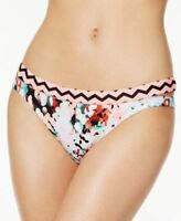 Hula Honey Contrast Pink Bikini Bottom Cut out Small $28 Low Rise Swimwear