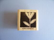 STAMPIN' UP RUBBER STAMPS TULIP WITH SHADOW BACKGROUND STAMP