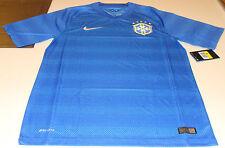 Team Brasil Brazil Home 2014 World Cup Soccer Away Jersey SS XL Men's Blue