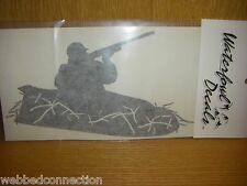 Waterfowl Decal Decals Geese Goose Decoy Hunting Blind Hunter in Layout *White*