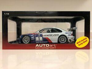 AUTOART 1:18 BMW 2005 M3 GTR NURBURGRING 24 Hour Race Winner White Die-Cast Car