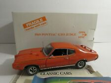 Danbury 1969 Pontiac GTO Judge 1:24 With Title and Box