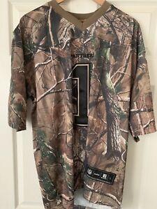 NFL Men's Jersey CAMO Carolina Panthers CAM NEWTON Size L Reebok New With Tags