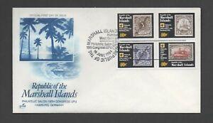 MARSHALL ISLANDS 1984 19th U.P.U. CONGRESS *UNADDRESSED FDC* CONGRESS POSTMARK