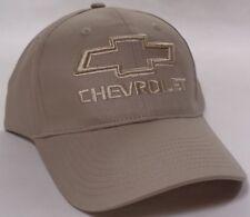 Hat Cap Licensed Chevrolet Chevy Bowtie Tone on Tone Tan HR 243