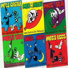 Meg and Mog 6 Books Collection Set (Meg's Eggs, Meg's Castle, Meg at Sea) New
