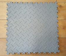 ECO graue Diamond PVC-Werkstatt-Garagen-Boden-Fliesen-Fliese KLICK-Verlegung