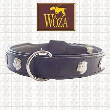 Premium Hundehalsband Rottweiler WOZA Lederhalsband Rindnappaleder Collar HG2281