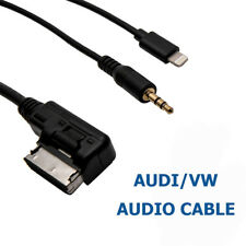 AMI MMI 3.5mm AUX Jack iPhone iPod Adapter Cable For Audi A3 A4 A5 A6 A8 Q3 Q5