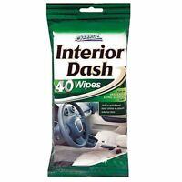 40 Dashboard Cleaning Wipes Plastic & Vinyl Car Interior Dash Gloss Shine