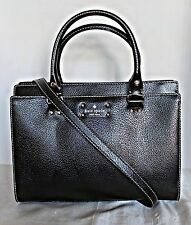 KATE SPADE  - Durham Wellesley Leather Satchel - Black