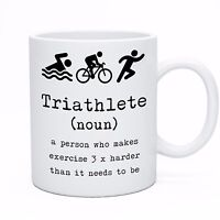 Funny Coffee Tea Triathlete Triathlon Novelty Mug Cup - Perfect Gift Idea