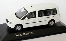 RARE VW CADDY MAXI LIFE TDI 2K CANDY WHITE CODE 3 1:43 MINICHAMPS (DEALER MODEL)