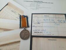 WW1 British War Medal to Private Hill, 2nd Border Regiment, Brentford man