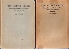 Lin Yutang The Little Critic Essays on China 1st, 2nd Series 1930-1935 Good cond