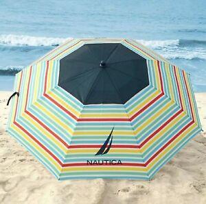 NAUTICA 7 FEET  RAINBOW BEACH UMBRELLA NEW