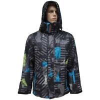 Quiksilver LAST MISSION Youth Kids Boys Jacket Size 16 Print Snow Board Ski