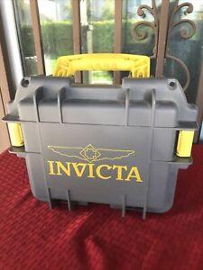 Invicta Gray 3 Slot Watch Dive Case Impact Box - FAST SHIP