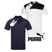 Puma Mens Esquadra Sports Polo Shirt Navy White Training T-Shirt Golf Top S-XXL