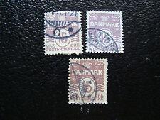 DANEMARK - timbre - yvert et tellier n° 52 x3 obl (A12) stamp denmark