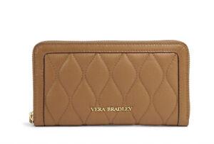 Vera Bradley Leather Quilted Georgia Wallet In Cognac  LAST ONE!!