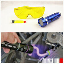 Autos Air Conditioning UV Leak Detector HVAC A/C&LED Flash Light&Safety Glasses