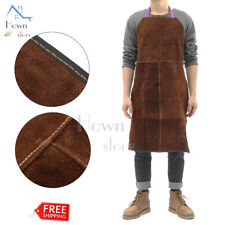 Leather Apron Multi Use Work wear Shop Protection Fire Welding Glass Blacksmith