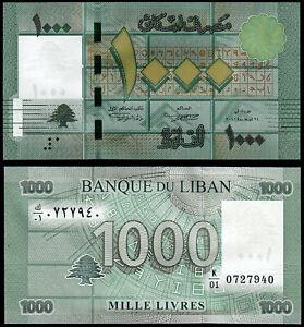 LEBANON 1000 LIVRES (P90a) 2011 UNC