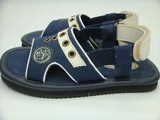 Boys Yunginz Blue Sandals Velcro Elastic - Size 9 15.5cm NEW