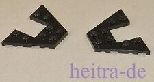 LEGO - 2 x Flügel, Flügelplatte, Wedge Plate 4x6 schwarz / 47407 NEUWARE (L4)