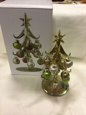 LS Arts, Inc. Glass Christmas Tree with 12 Ornaments