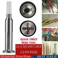 4 and 5 Square Cable wire stripping and twisting tool Quick Twist Wire Tool