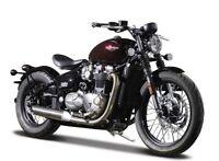 Bburago Triumph Bonville Bobber 1/18 Scale Model Motorbike Motorcycle