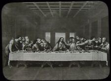 Glass Magic Lantern Slide THE LAST SUPPER C1910 DRAWING JESUS AND DISCIPLES