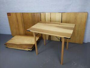 Vintage Industrial Military Wooden Trestle Folding Table Garden Pub Kitchen Cafe