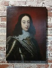Old Master Portrait of a Cavalier w/a Lace Collar -Gorgeous 17th c. Oil Painting