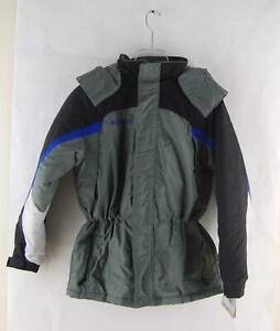 Columbia Hooded Boys Youth Winter Ski Snowboard Jacket Gray Black XL (18-20)