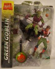Marvel Select Green Goblin With Peter Parker Spider-Man Glider Pumpkin Bombs MIP