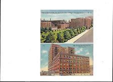Linen Postcards:Bethlehem Steel Parking Area/Buildings & Office Bldg. Pa