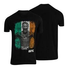 UFC Mens Conor McGregor Flag T-Shirt - Black