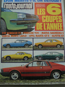 L'AUTO JOURNAL 1976 8 DATSUN 120A BETA MONTE CARLO SCIROCCO BAGHEERA PORSCHE 924