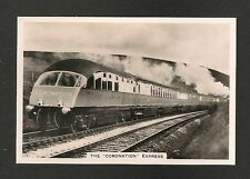 The CORONATION EXPRESS  BEAVER TAIL Observation Saloon 1938 original photocard