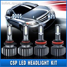 Combo Kit 9005 H11 LED Headlight Kit 1200W 120000LM 6000K CSP Bulbs Hi/Low Beam