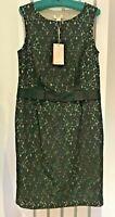"MONSOON Dress BNWT Black Lace Shift ""Estelle"" LBD Sleeveless  UK14 EU42"